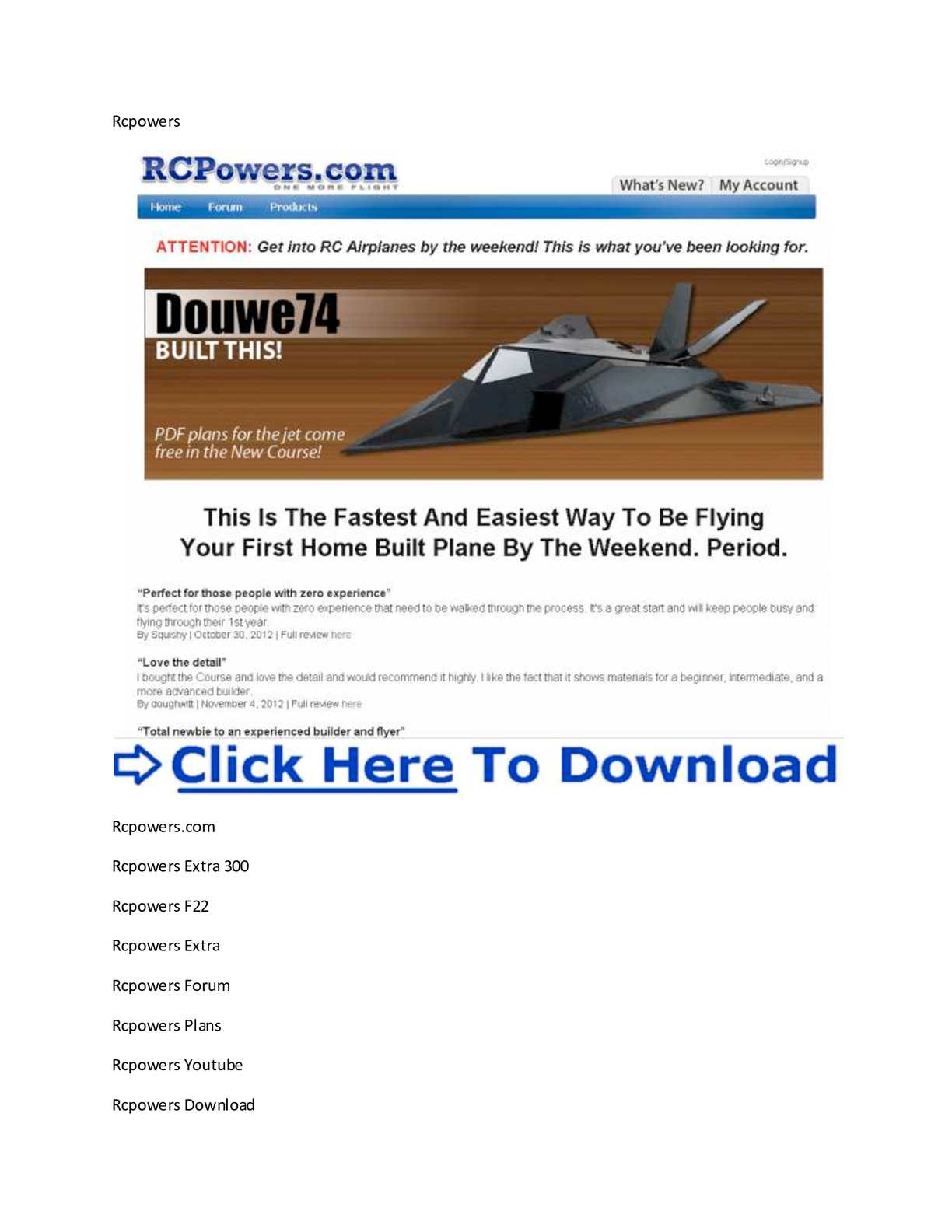 rcpowers f-117 instructions