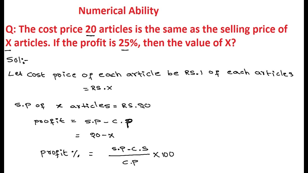 Profit and loss questions for class 7 pdf