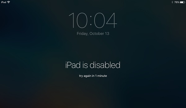 Ipad is disabled connect to itunes how to unlock
