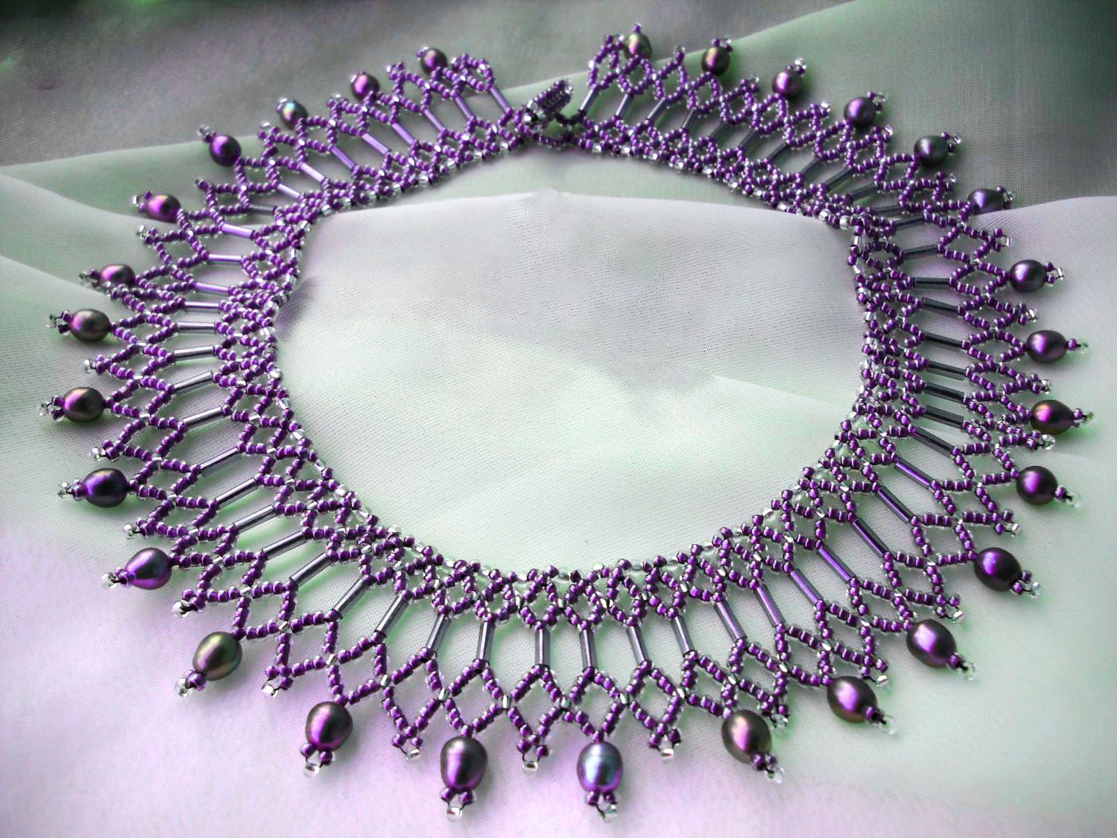 free beaded necklace patterns instructions