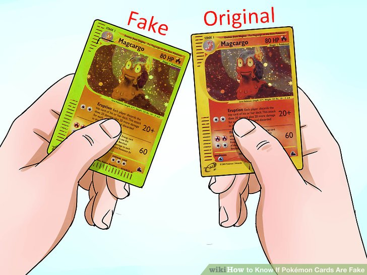 Fake japanese pokemon cards how to tell
